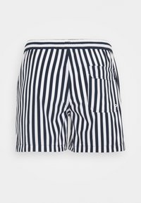 KnowledgeCotton Apparel - BAY STRETCH STRIPED SWIMSHORTS - Swimming shorts - total eclipse - 1