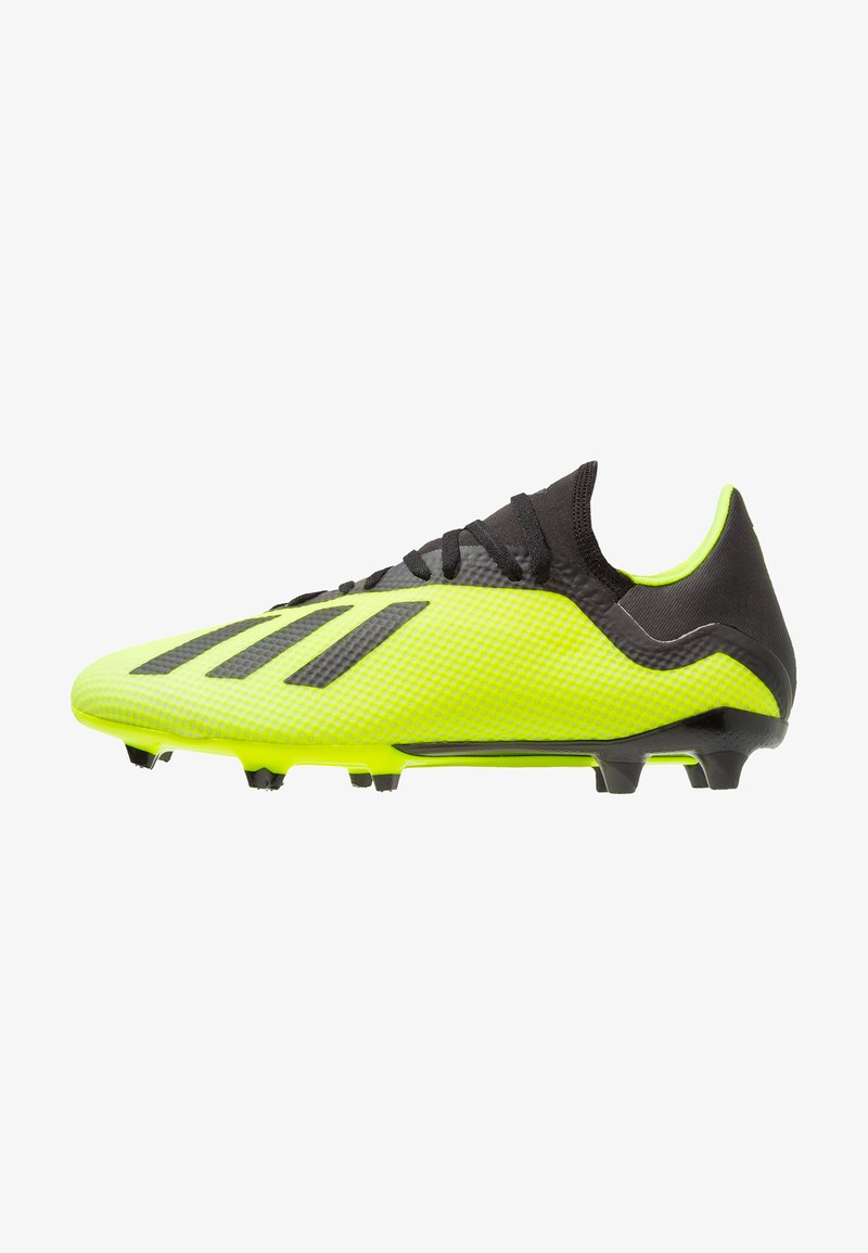 adidas Performance - X 18.3 FG - Moulded stud football boots - solar yellow/core black/footwear white