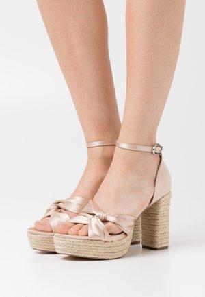 LUNA - High heeled sandals - beige