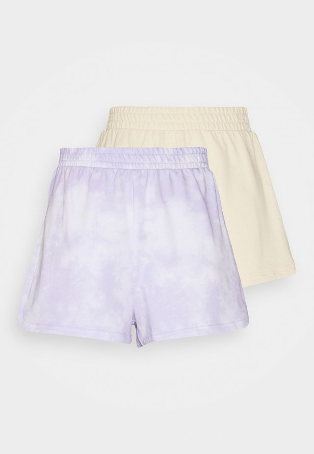 ZOE 2 PACK - Shorts - purple/yellow dusty light