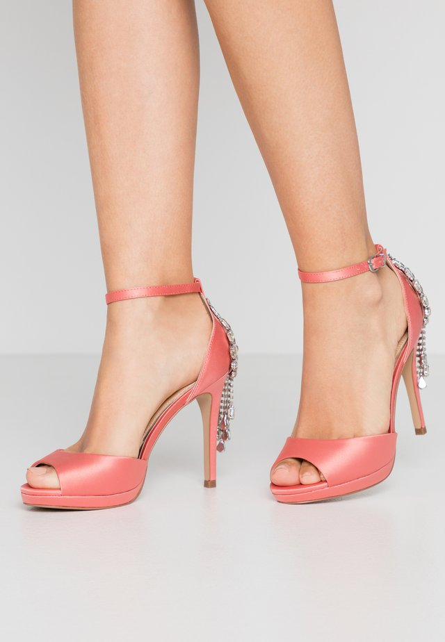 LACEY - High heeled sandals - peach