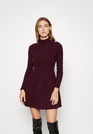 SCENICO - Jumper dress - burgundy