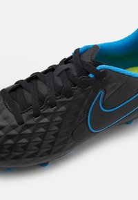 Nike Performance - TIEMPO JR LEGEND 8 CLUB FG/MG UNISEX - Moulded stud football boots - black/light photo blue/cyber - 5