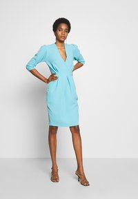 Closet - PUFF SLEEVE TULIP DRESS - Day dress - blue - 1