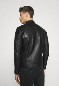 Selected Homme - SLHICONIC CLASSIC - Giacca di pelle - black - 2
