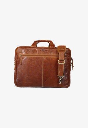 Laptop bag - cognac plain