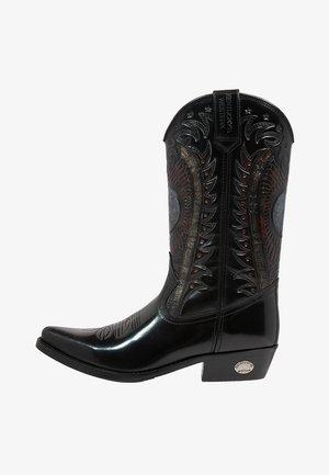 UNISEX - Kovbojské/motorkářské boty - antik schwarz