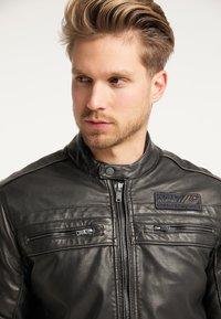 Petrol Industries - BIKERJACKE - Leather jacket - black - 3