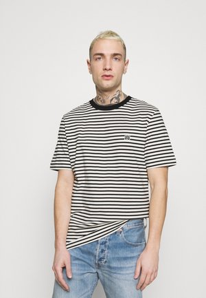 JPRBLASTUDIO TEE STRIPE - Camiseta estampada - egret/black