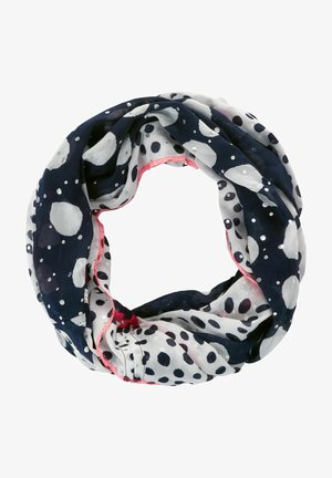 MIT PUNKTE-PATCHWORK - Snood - blau