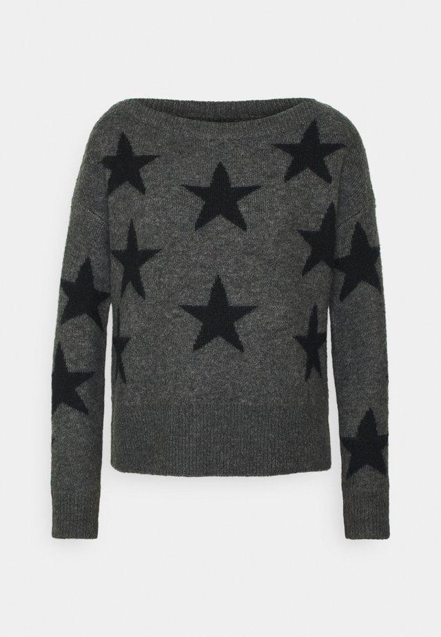 ONLNEW AURELIE  - Pullover - dark grey melange/black