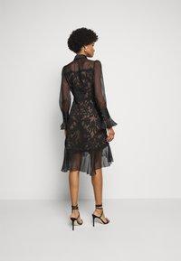 Marchesa - DAMASK DRESS - Koktejlové šaty/ šaty na párty - black - 2