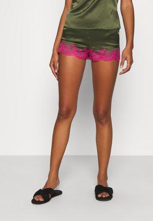 AMELEA SHORT - Pyjama bottoms - khaki/bright pink