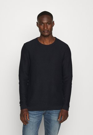FIELD CREW NECK - Strikpullover /Striktrøjer - dark blue