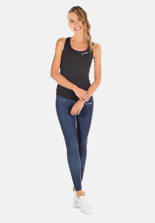 Femme HWL102 INDIGO-BLUE HIGH WAIST -TIGHTS - Collants
