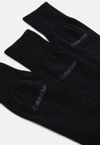 Calvin Klein Underwear - MEN CREW COMBED FLAT ERIC 3 PACK - Socks - black - 1
