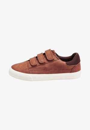 TRIPLE STRAP - Touch-strap shoes - brown