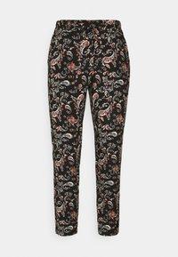 Vero Moda Petite - VMSIMPLY EASY LOOSE PANT - Trousers - black/adda - 0