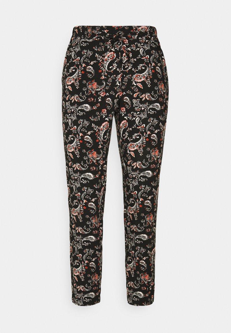Vero Moda Petite - VMSIMPLY EASY LOOSE PANT - Trousers - black/adda