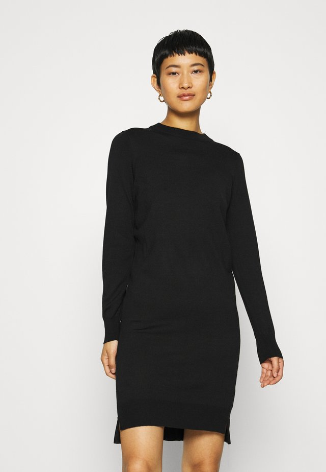DAVILA DRESS - Strikket kjole - black