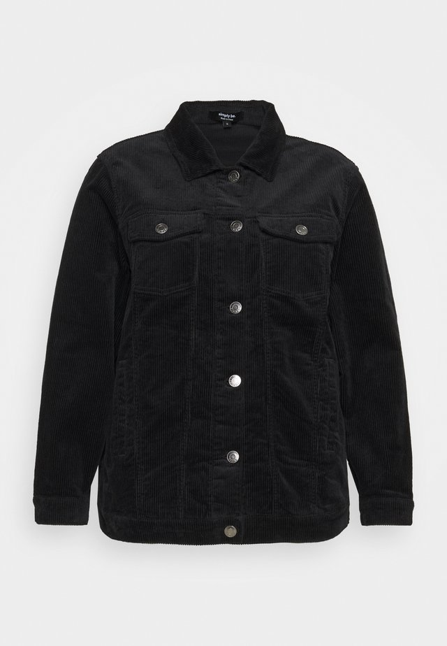 OVER SIZED WESTERN JACKET - Lehká bunda - black