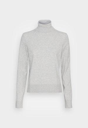 TURTLE NECK - Pullover - stony grey melange