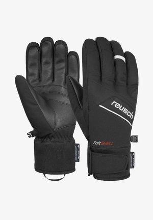 Gloves - black white