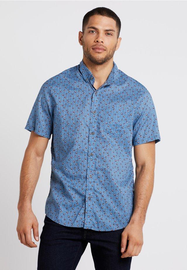 Shirt - fjordblau