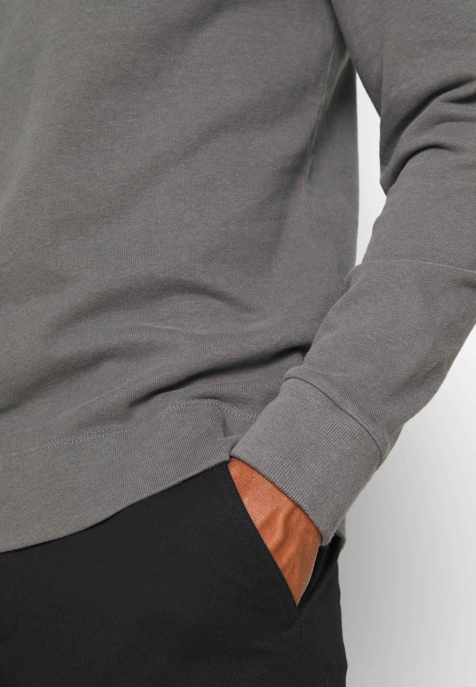 Abercrombie & Fitch Icon Hood - Bluza Z Kapturem Grey