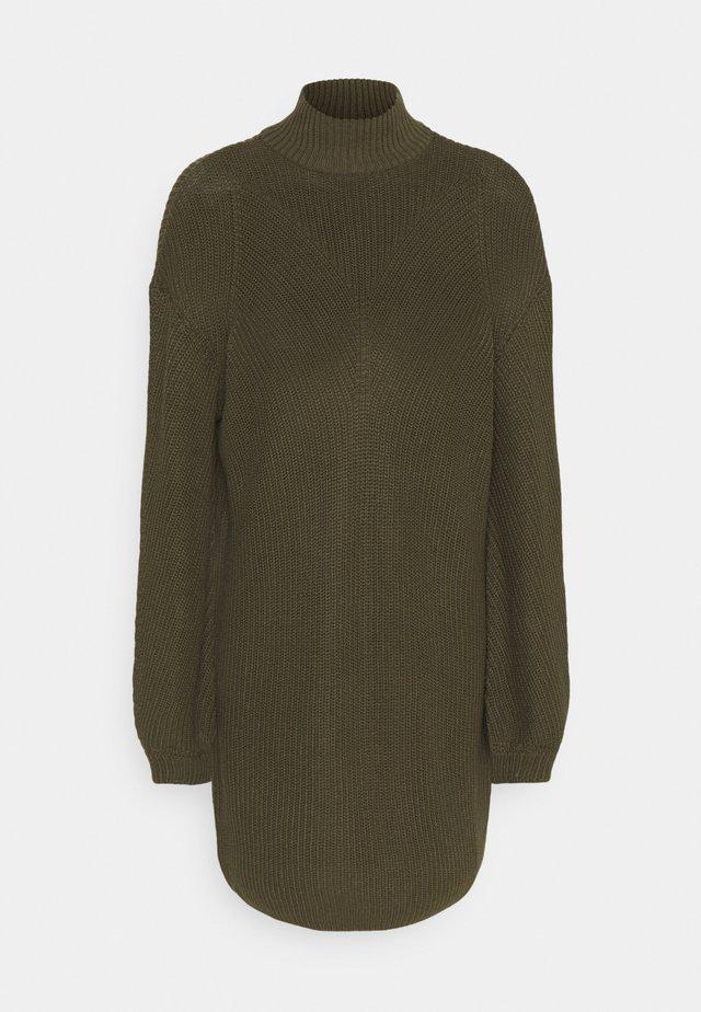 NMSIAN HIGH NECK DRESS - Gebreide jurk - kalamata
