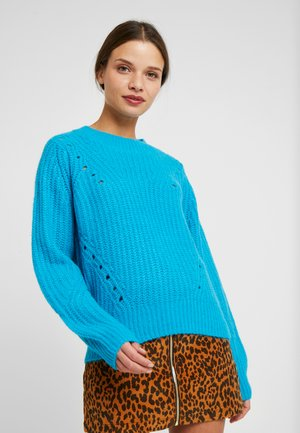 BRUSHED POINTELLE CREW  - Sweter - caneel bay