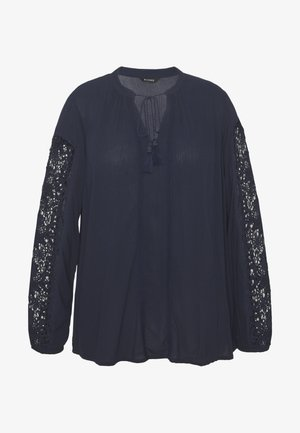 CROCHET SLEEVE BLOUSE - Tunika - navy