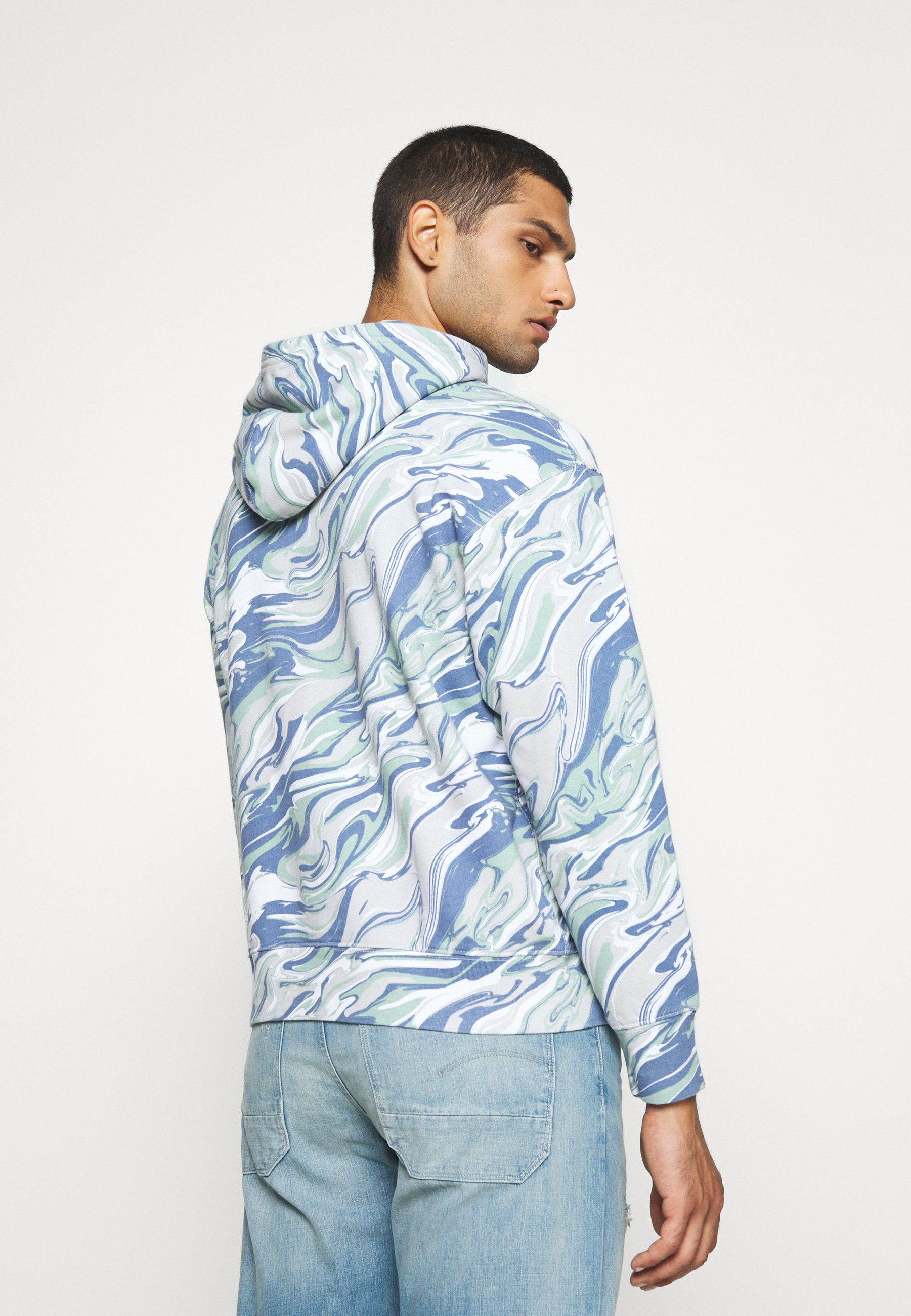 Levi's® RELAXED FIT LOGO - Sweat à capuche - marble box tab white