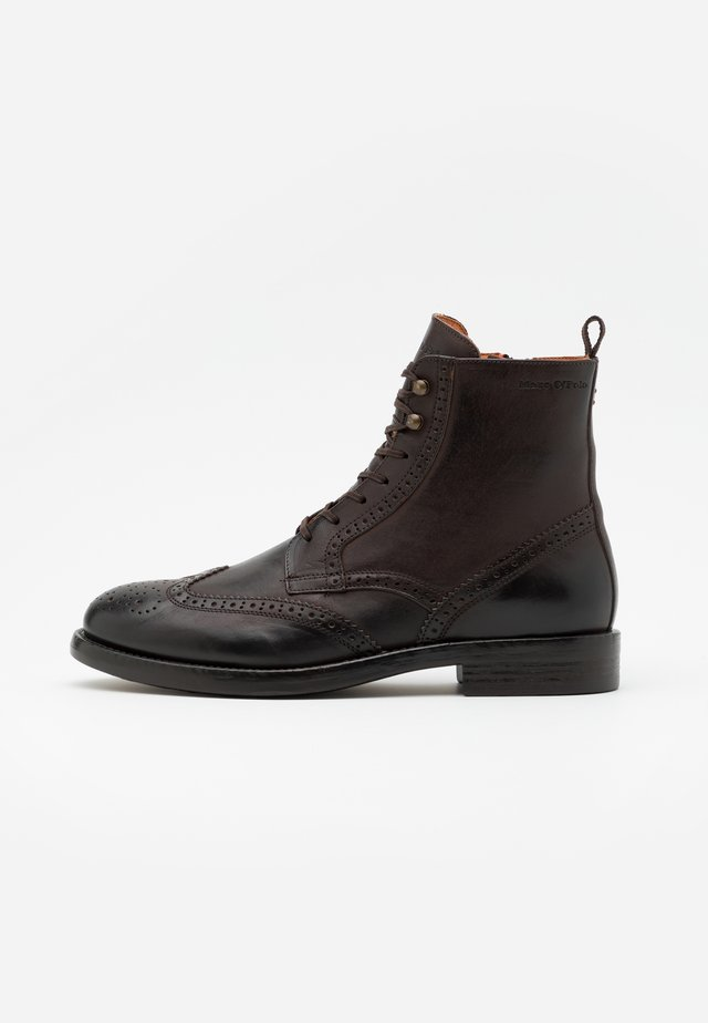 LACE UP BOOT - Stivaletti stringati - dark brown