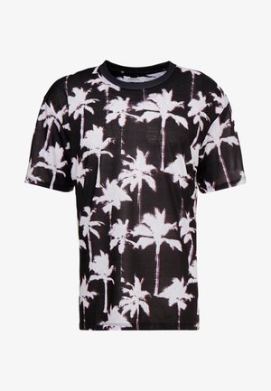 TECHNO PALM TREE TEE - T-shirt imprimé - black