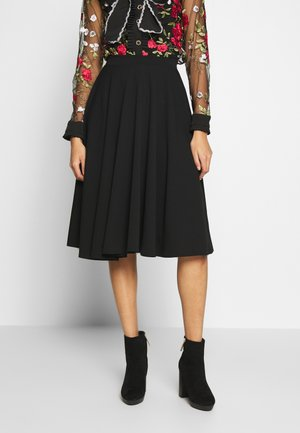 FULL CIRCLE SKATER SKIRT - Jupe trapèze - black