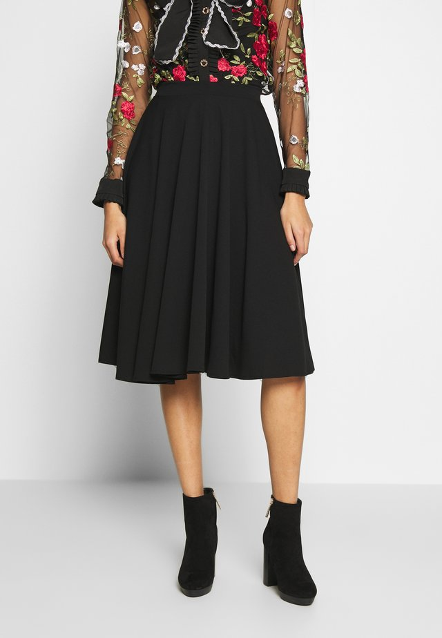 FULL CIRCLE SKATER SKIRT - Gonna a campana - black