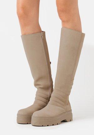 MARGHERITA  - Platform boots - nude