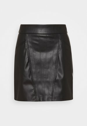 ONLNAYA SKIRT - Mini skirt - black