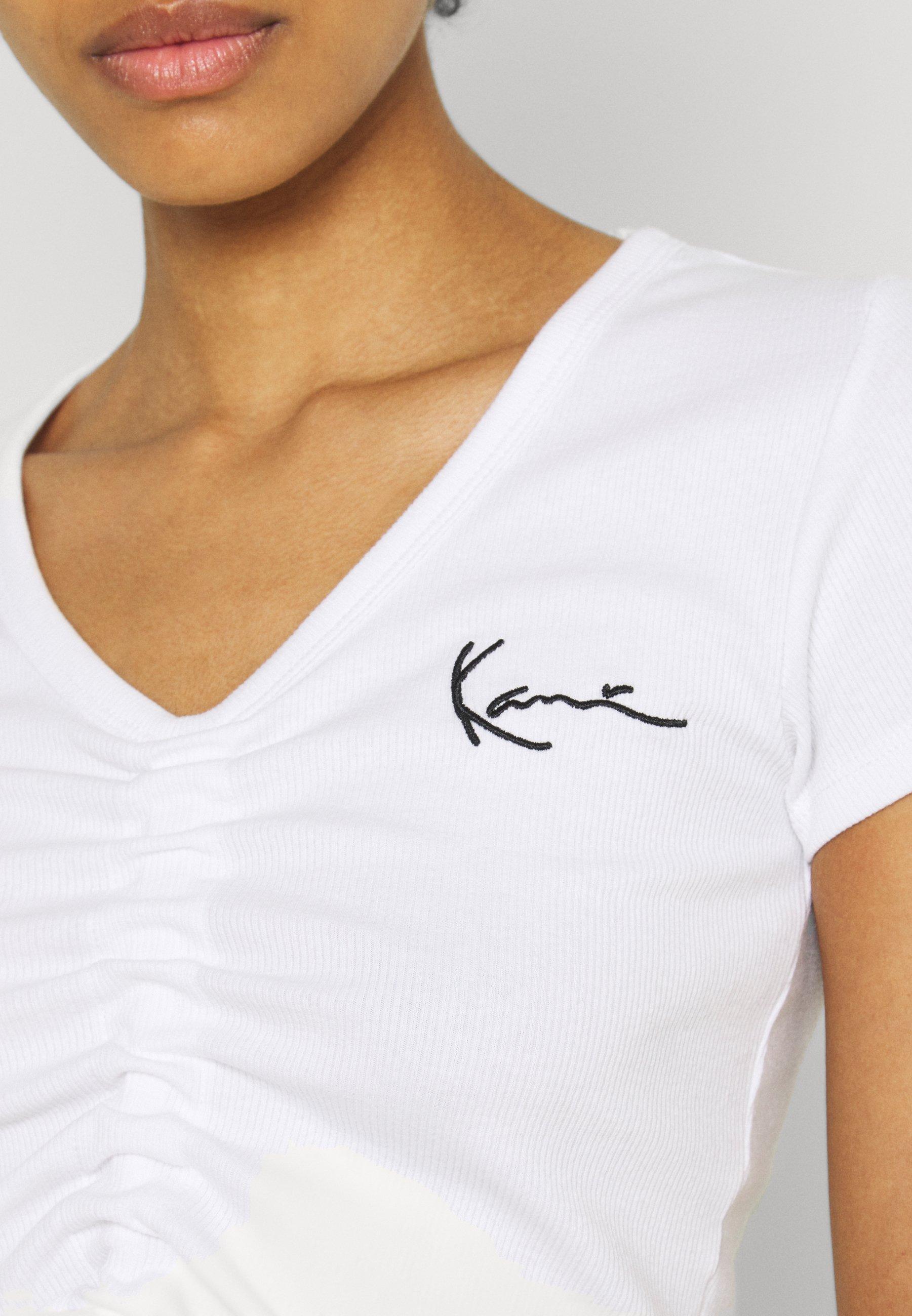 Women CHEST SIGNATURE CROP GATHERED TEE - Print T-shirt