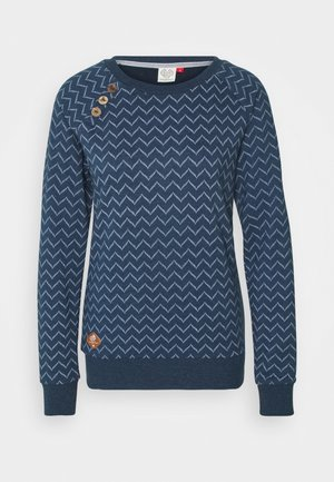 DARIA ZIG ZAG - Sweatshirt - denim blue