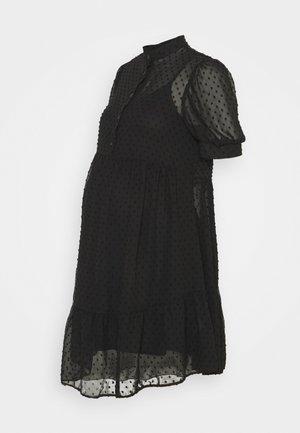 GRANDAD DOBBY MINI - Denní šaty - black