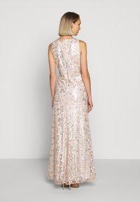 Lauren Ralph Lauren - ASTOR LONG GOWN - Vestido de fiesta - belle rose/silver - 2