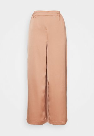 YASTERESA CROPPED PANTS - Trousers - tawny brown