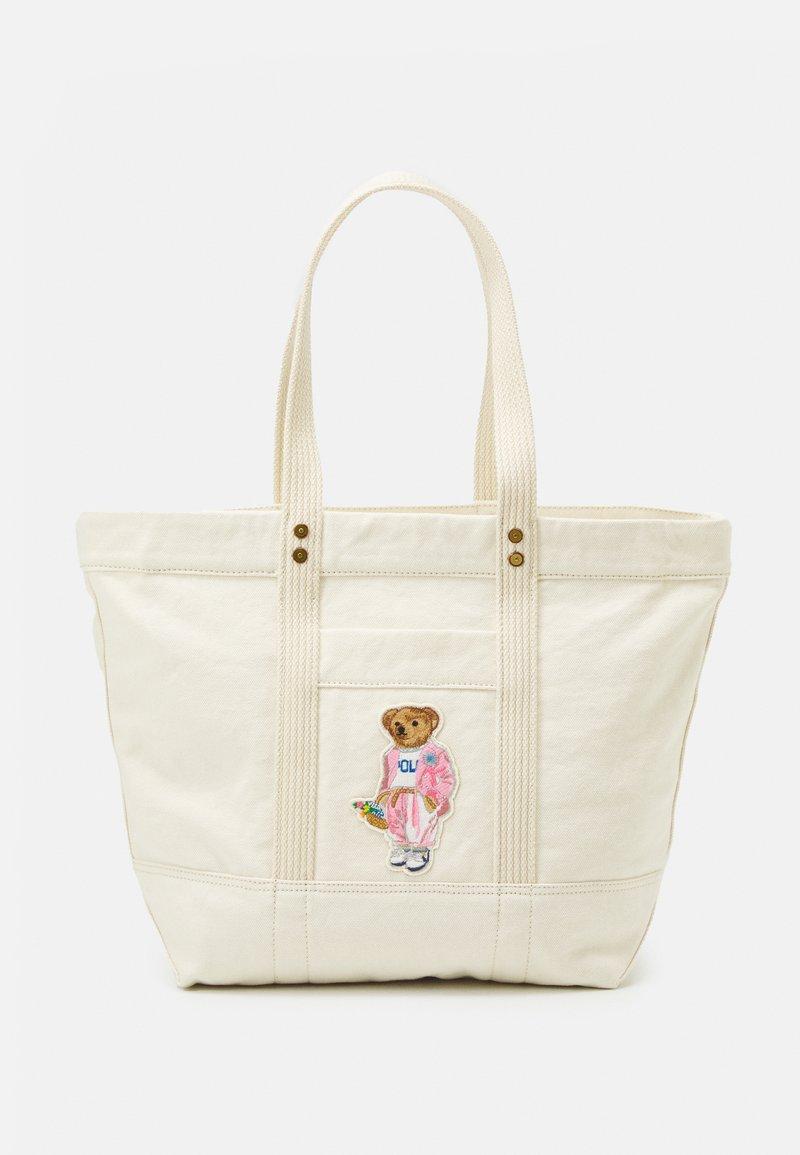Polo Ralph Lauren - BEAR TOTE - Tote bag - ecru multi