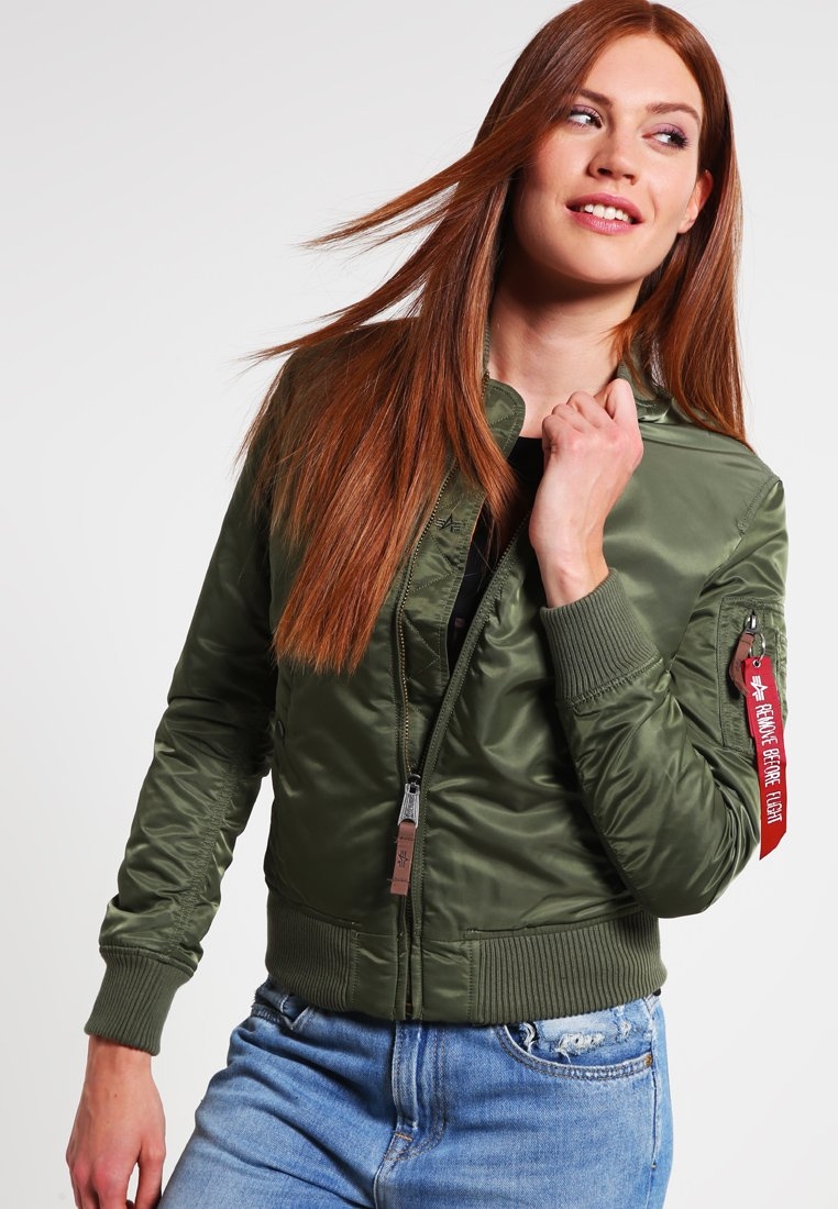 Alpha Industries - Bomber Jacket - sage green