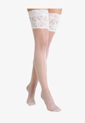 SEIDENGLATT 15 DEN - Over-the-knee socks - white