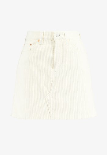 DECON ICONIC SKIRT - Mini skirt - ecru wide wale