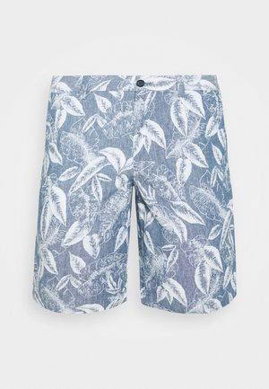 AIDEN CHAMBRAY ALLOVER LEAF PRINT - Shorts - chambray blue