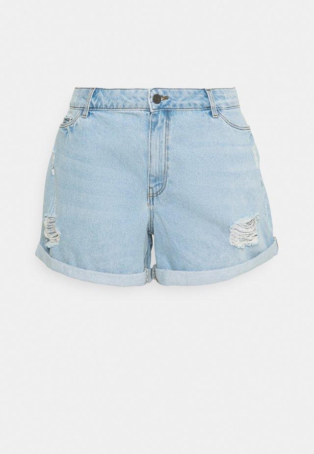 NMSMILEY   - Shorts di jeans - light blue denim